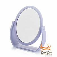 Круглое косметическое зеркало с увеличением