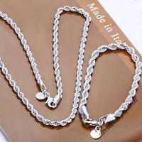 Женский серебряный набор 925 проба