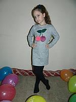 Платье туника  детское в расцветках 14605