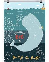 Постер Dream big А 2 Orner Store 42х59 см в подарочном тубусе