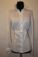 Блузка женская в полоску с имитацией пояса Р50