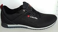 Кожаные мужские кроссовки Columbia , черные