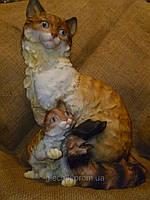 Декоративная статуэтка Кошка с котенком 38,5х26х20 сантиметров