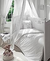 Детский постельный комплект Lovely Bear (Белый, 7 элементов), Funnababy