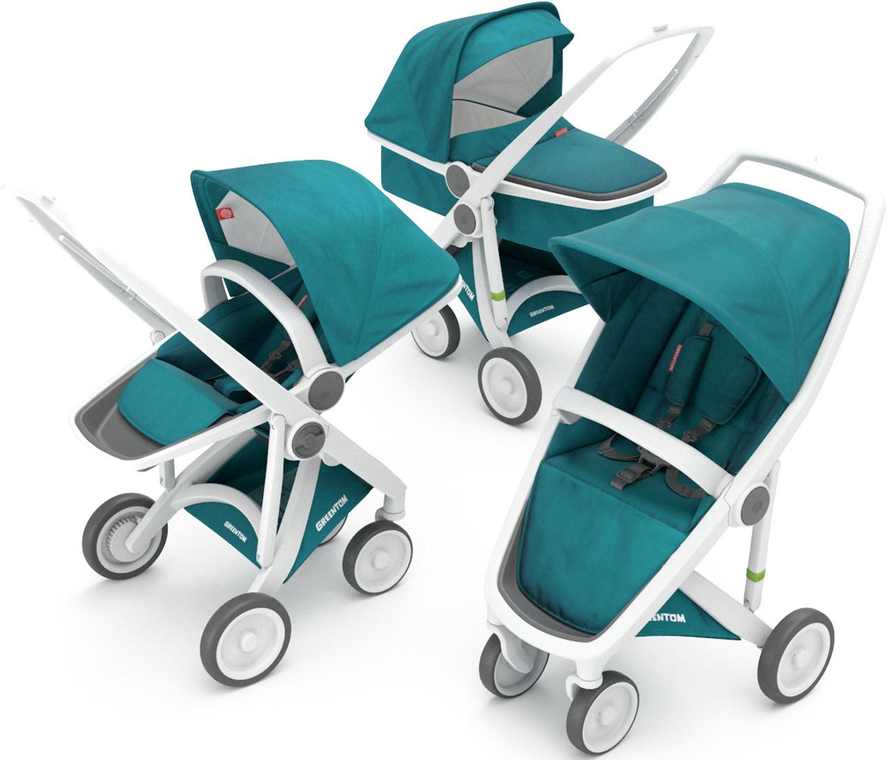 Детская коляска 3 в 1 Greentom Upp Carrycot+Reversible+Classic