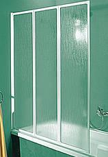 Шторка для ванн Aquaform STANDARD-3 трёх элементная 121х140 профиль белый 170-04010, фото 2
