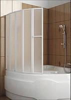 Шторка для ванн Aquaform NOVUM-5 пяти элементная 120х140 профиль белый 170-31454