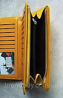 Клатч для женщин Baellerry Italia Classic Желтый (портмоне Баелери Италия Класик) + сережки