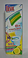 Самоклеющий туалетный блок Trio zip 6в1 Dr. Devil Лимон (6879)