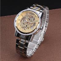 Механические наручные часы,скелетон, Winner Skeleton, м-004/b