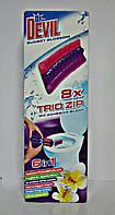 Самоклеющий туалетный блок Trio zip 6в1 Dr. Devil Квітковий захід (5988)
