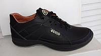 Кожаные мужские кроссовки ECCO model 008 , черные
