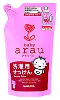 Натуральная гипоаллергенная жидкость для стирки детской одежды Arau Baby 720 мл, запаска, Япония