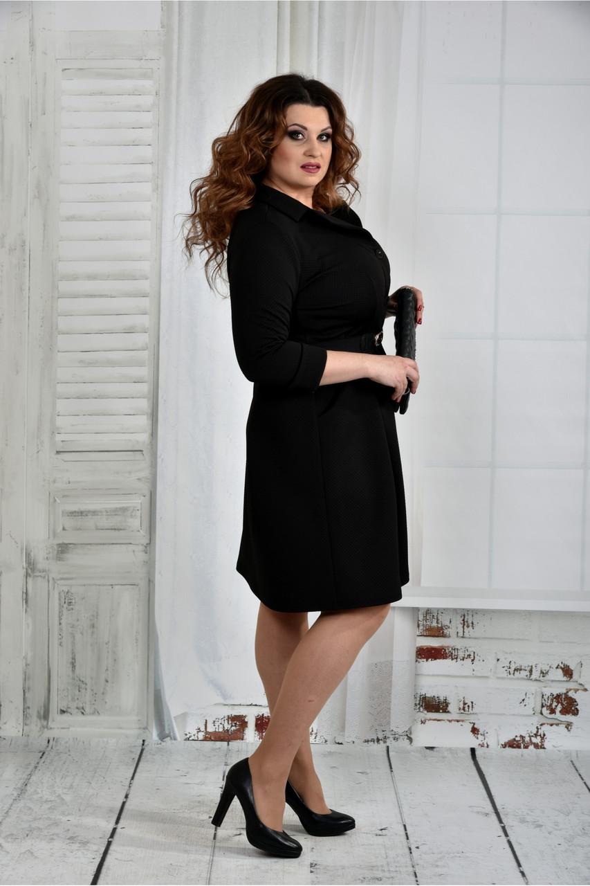Черное платье размер 64