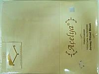 Трикотажная простыня 160*200 на резинке кремовая