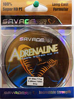 42813Шнур SG Adrenaline HD 0.22mm 22lbs  120m grey