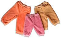 Теплые штаники ясельные для девочек