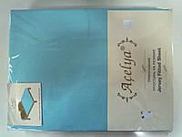 Трикотажная простыня 160*200 на резинке бирюза