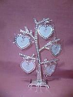 Фоторамка с стразами декоративная на 5 фотографий - семейное дерево 24 сантиметра высота