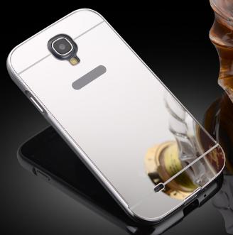 Чехол для Samsung S4 i9500 серебрняый зеркальный акрил