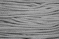 Шнур акрил 6мм.(100м) белый+серебро, фото 1