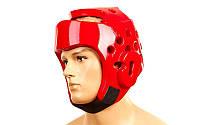 Шлем для тхэквондо PU WTF р-р S-XL, красный