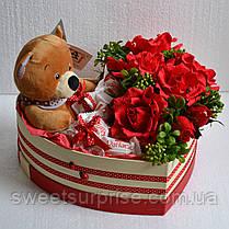 Подарочный набор с мягкой игрушкой на День влюбленных, фото 3