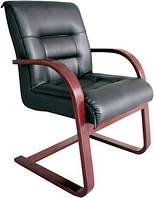 Конференц-кресло Роял CF кожа сплит чёрная, фото 1