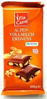Шоколад молочный с арахисом Fin Carre Alpen-Vollmilch  Erdnuss 100g