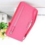 Клатч для женщин Baellerry Italia Classic розовый (малиновый) + серьги-шарики в подарок