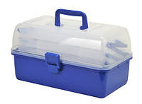 Ящик органайзер 3 полки (синий)