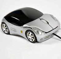 Беспроводная мышь Porsche, мышка машинка белая