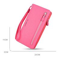 Розовый кошелек для женщин Baellerry Italia Classic (портмоне Баелери Италия Класик) и сережки в подарок!