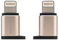 REMAX RA-OTG RA-USB2 microUSB to Lightning Gold