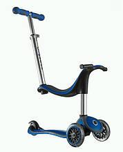 Самокат трехколесный с сиденьем Globber My Free 4в1 (от 1 года до 50 кг), синий