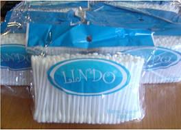 Палички ватні гігієнічні PA 100 Lindo 100 шт (Ч)