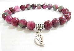 Женский браслет из турмалина красного