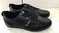 Кожаные мужские спортивные туфли ECCO, черные