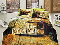 Комплект постельного белья First choice  3D сатин RECESS Двуспальный Евро Архитектурные сооружения
