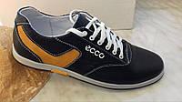 Кожаные мужские спортивные туфли ECCO ,черные