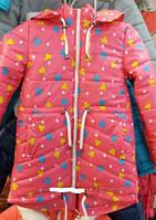 Весенняя куртка парка в сердечка (на лёгком синтепоне)