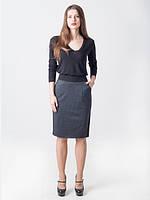 Классическая женская юбка с принтированым трикотажем
