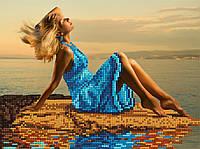 "Схема для вышивки бисером ""Девушка на берегу"", А4"