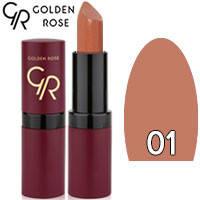 Golden Rose - Губная помада Velvet Matte Lipstick Тон 01 natural матовая