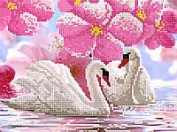"""Схема для вышивки бисером """"Лебеди"""", А4"""