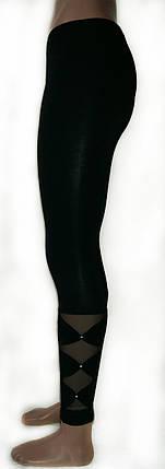 Жіночі лосини №227 чорні, фото 2