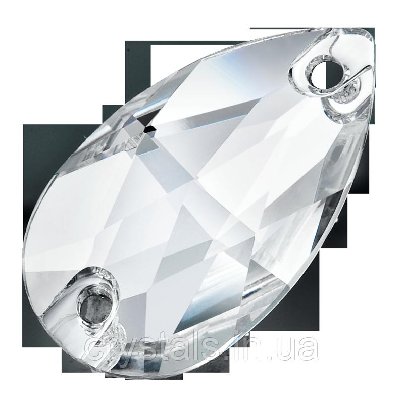Капли пришивные хрустальные Preciosa (Чехия) 12х7 мм Crystal