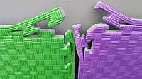Мат-татами ласточкин хвост (EVA 20мм, размер 1х1м, Турция) фиолетово-зеленый