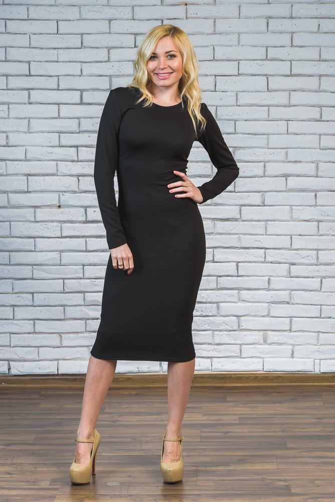 Платье женское футляр черное