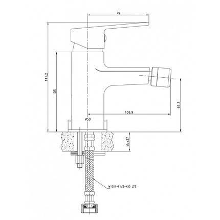 LASKA cмеситель для биде, белый, 35 мм, фото 2